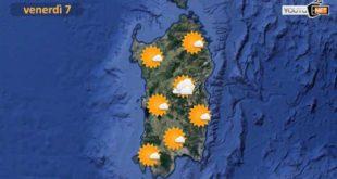 Cala il vento in Sardegna,. temperature in aumento verso il fine settimana