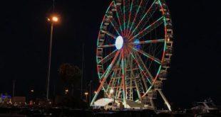 Al porto di Cagliari, inaugurata la nuova ruota panoramica