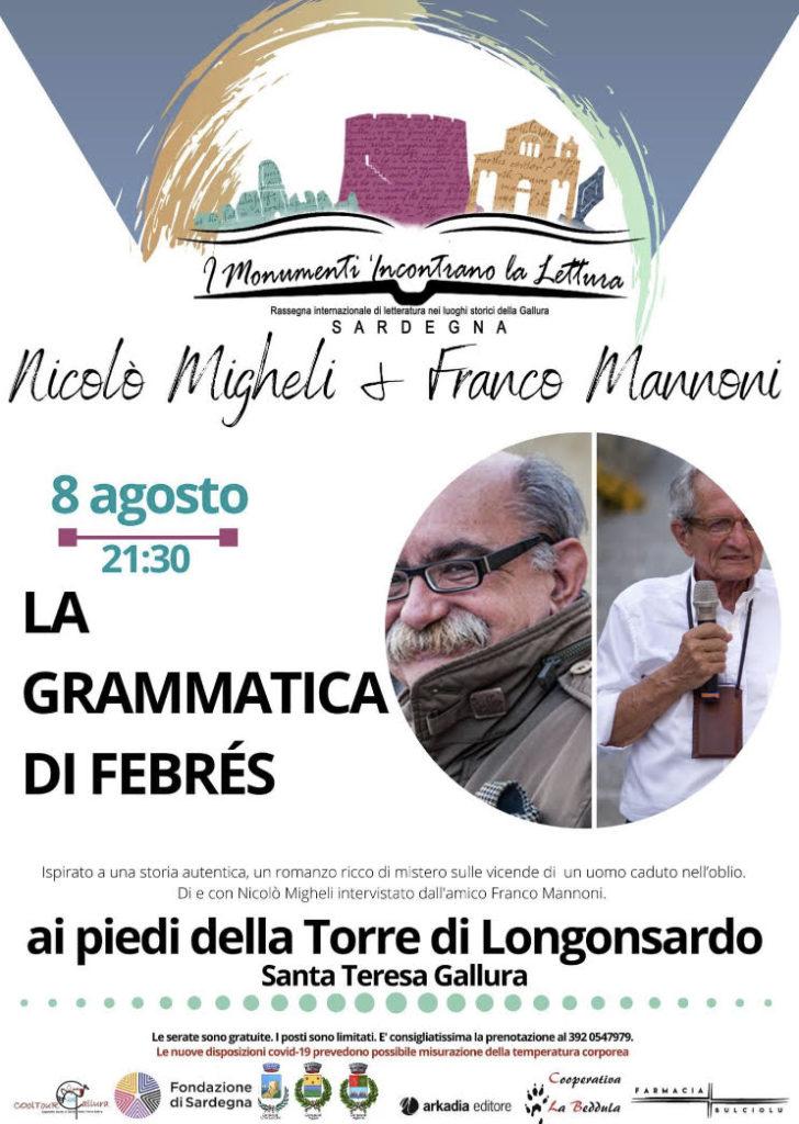 """Nicolò Migheli presenta a Santa Teresa """"La grammatica di Febrés"""""""