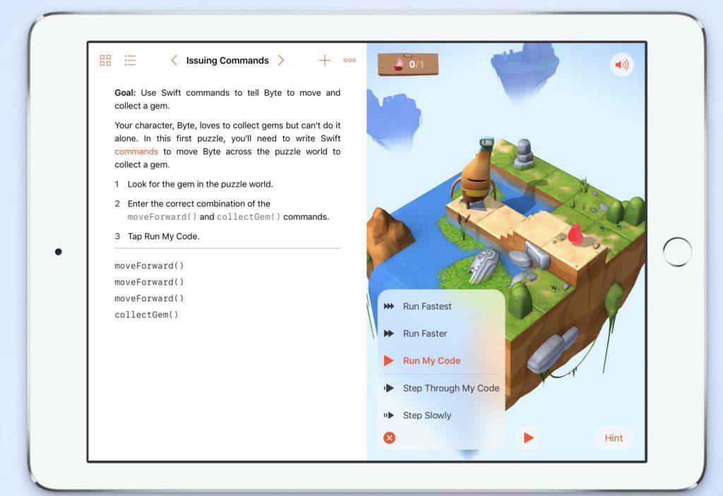swift playgrounds A scuola di programmazione
