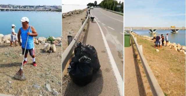 Cagliari, rifiuti abbandonati dai pescatori