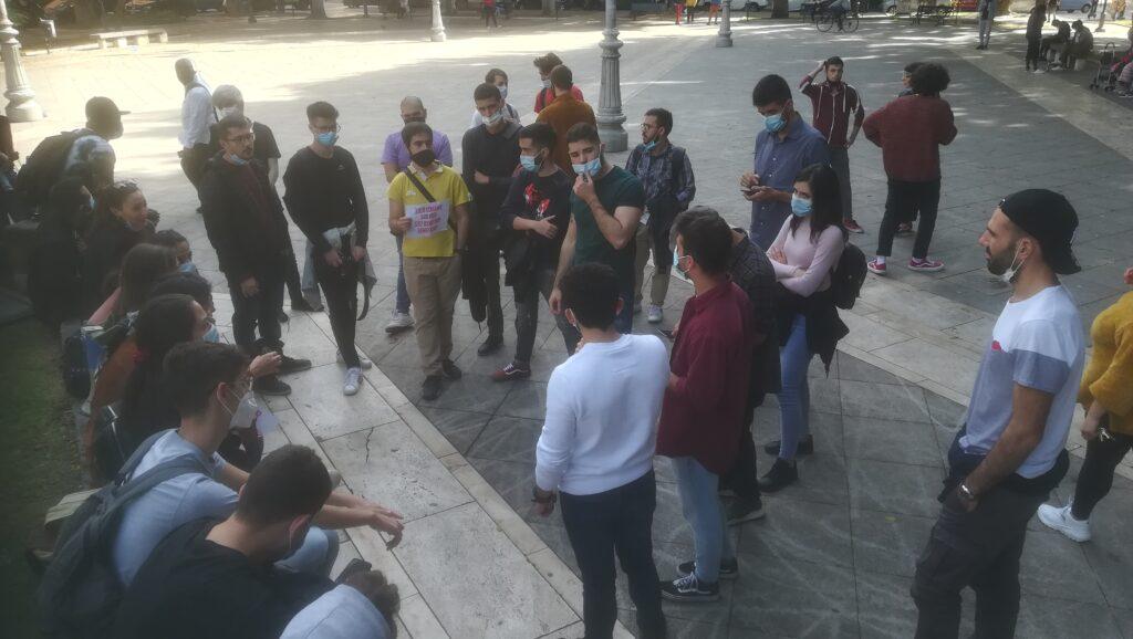 Assemblea degli Studenti Universitari di Cagliari in Piazza del Carmine