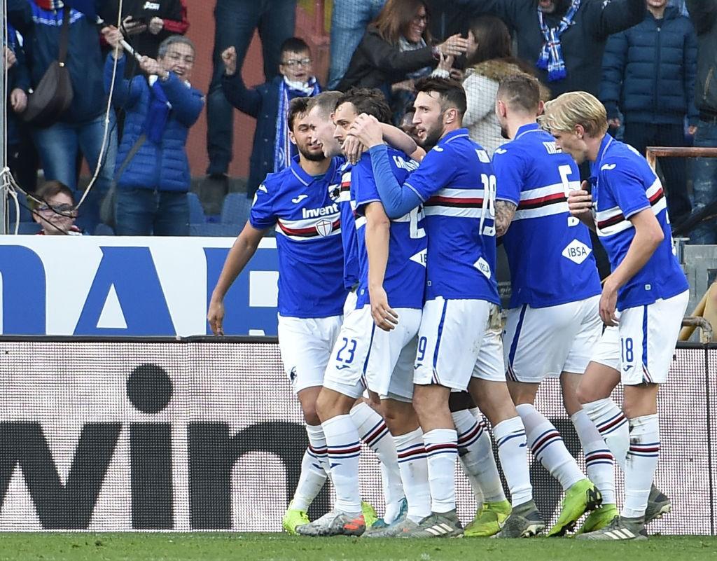 sampdoria coppe calcio squadra