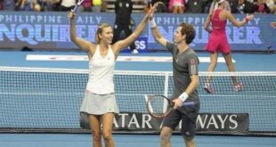 Maria Sharapova ed Andy Murray insieme nel doppio misto