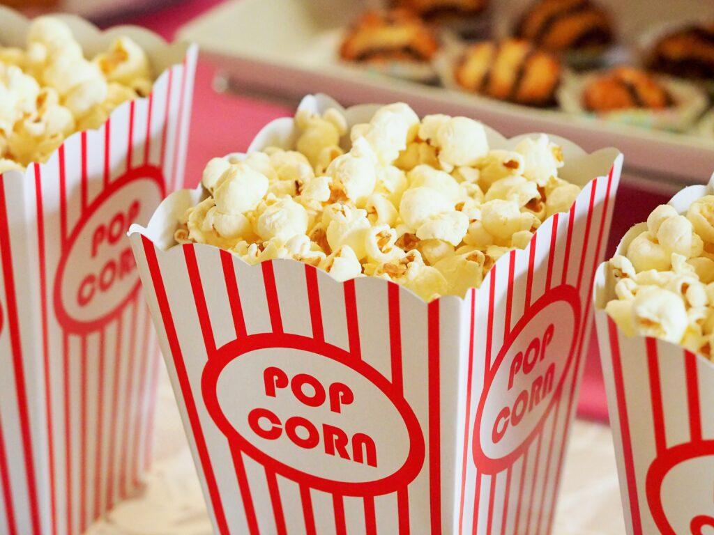 cinema animazione pop corn pellicola