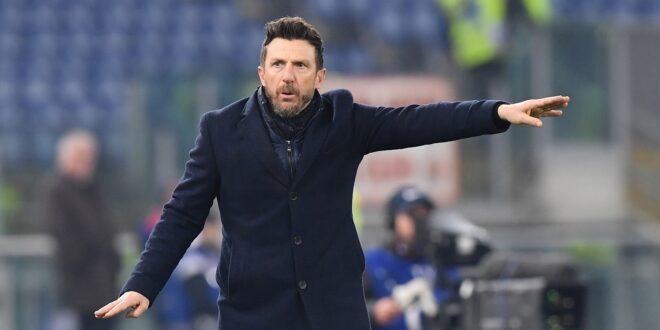 l'allenatore Di Francesco soddisfatto per la vittoria