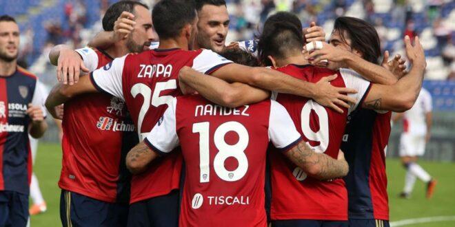 Cagliari calcio esultanza