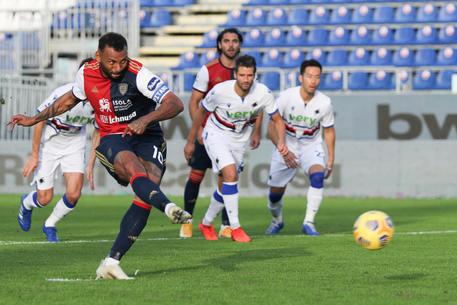 Cagliari-Sampdoria: gol di João Pedro