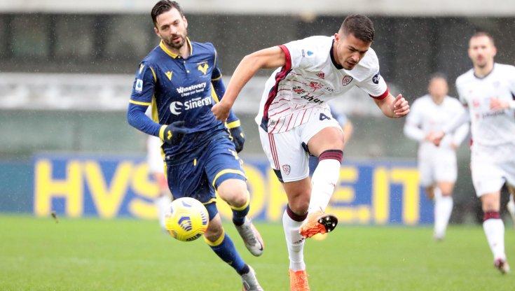 Verona-Cagliari: contrasto fra Di Carmine e Carboni
