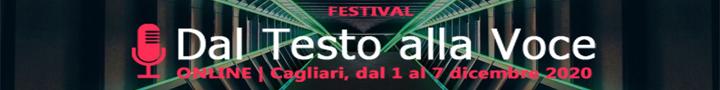 Festival dal Testo alla Voce, Cagliari dal 1 al 7 dicembre 2020