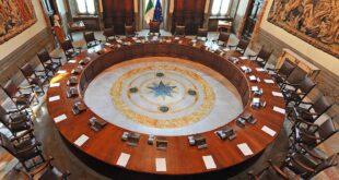 Sala del Consiglio dei Ministri Palazzo Chigi Roma