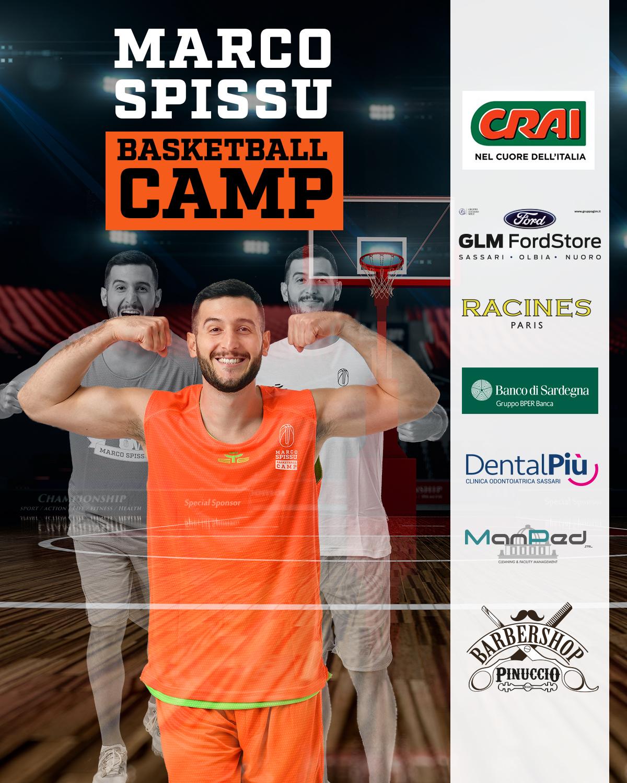 Marco Spissu Basketball Camp locandina partner