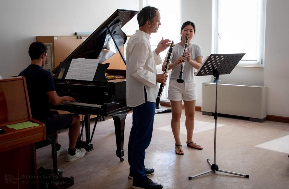 Un momento della masterclass di clarinetto lo scorso anno ph. Stefania Loriga