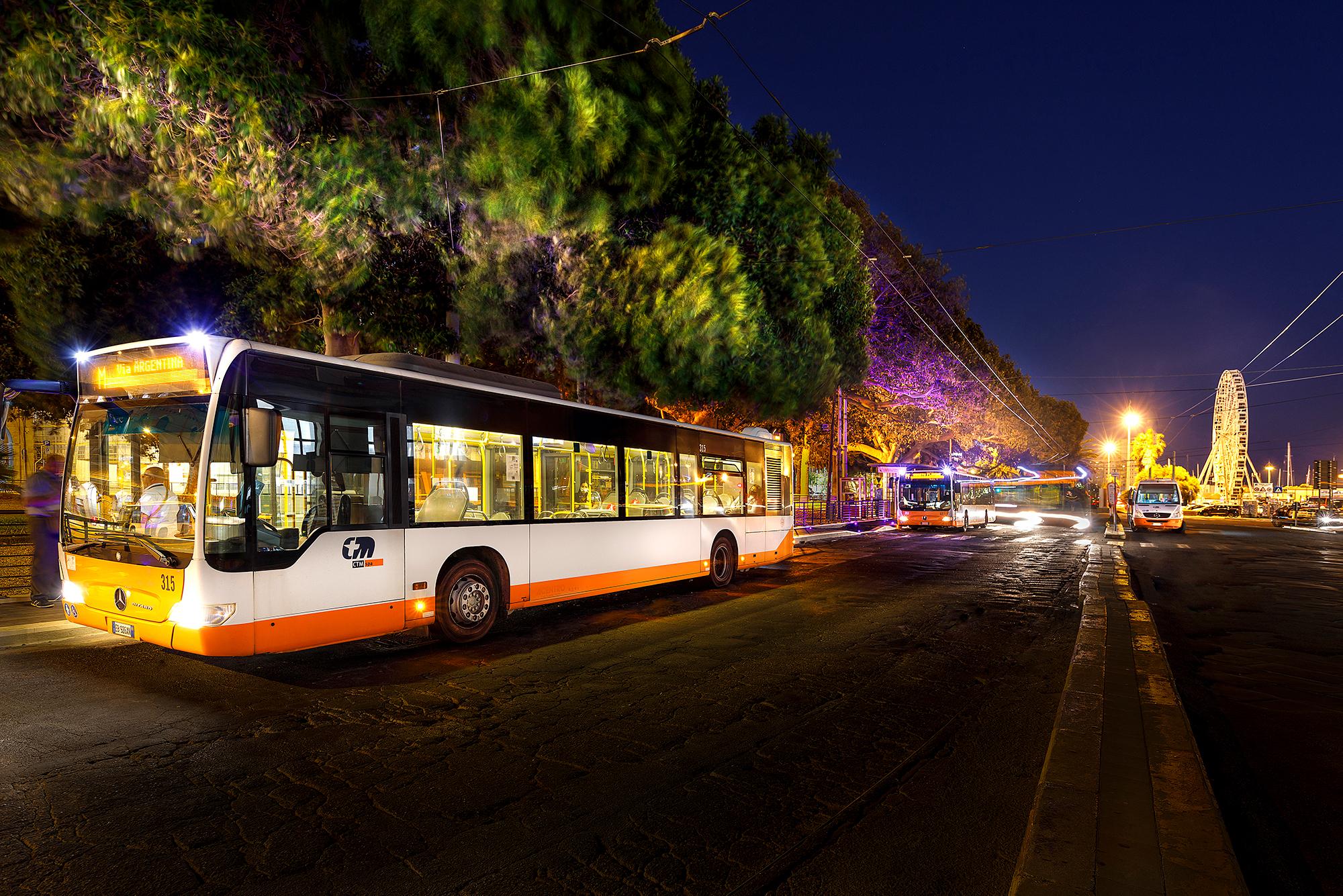 bus linee notturne via Roma s