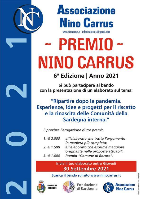 Locandina Premio Nino Carrus 2021