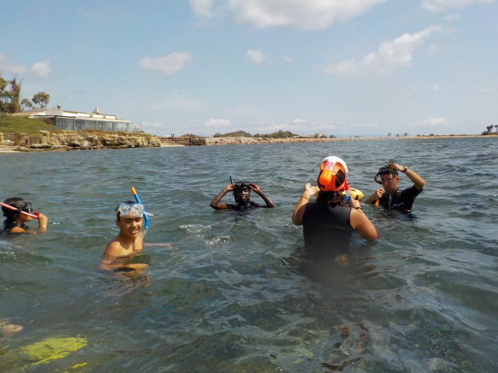 Laguna di Nora Snorkeling Foto dei ragazzi 13