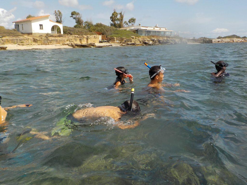 Laguna di Nora Snorkeling Foto dei ragazzi 14
