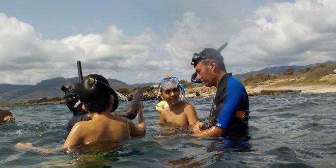 Laguna di Nora Snorkeling Foto dei ragazzi 9
